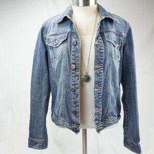 VTG Tommy Hilfiger Womens Blue Denim Jean Jacket S